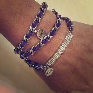 Premier Designs Purple Wrap Bling Bracelet